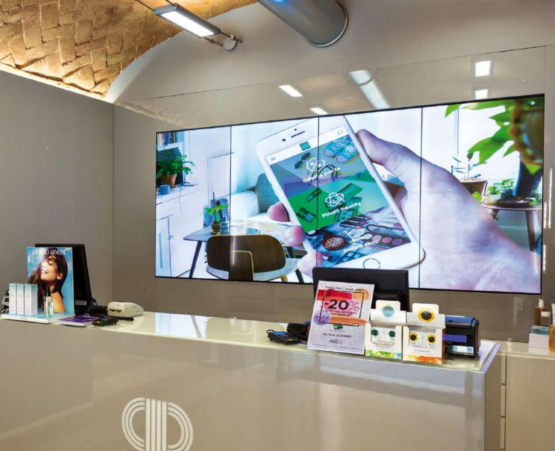 Videowall Einzelhandel