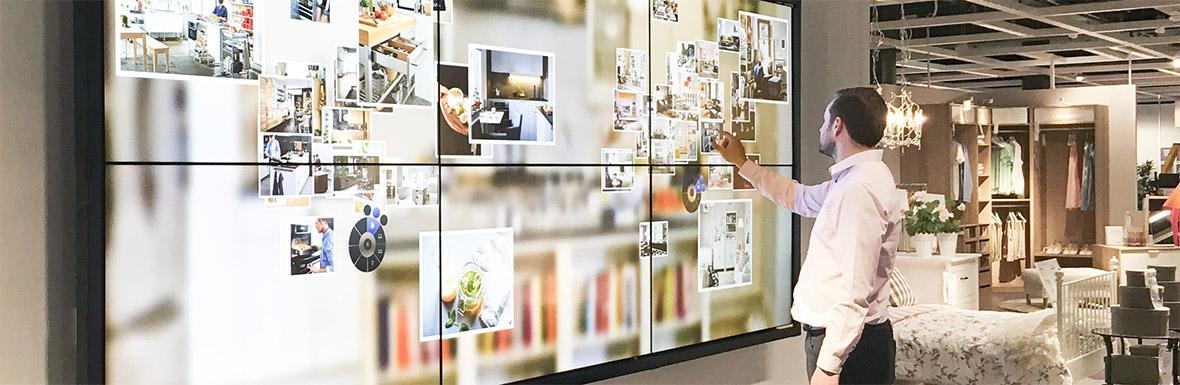 Videowall Touch Möbelhaus