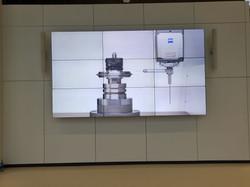 NEC Videowall Montage Stuttgart