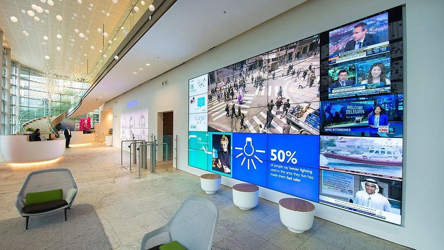 Philips Videowall Eingangsbereich