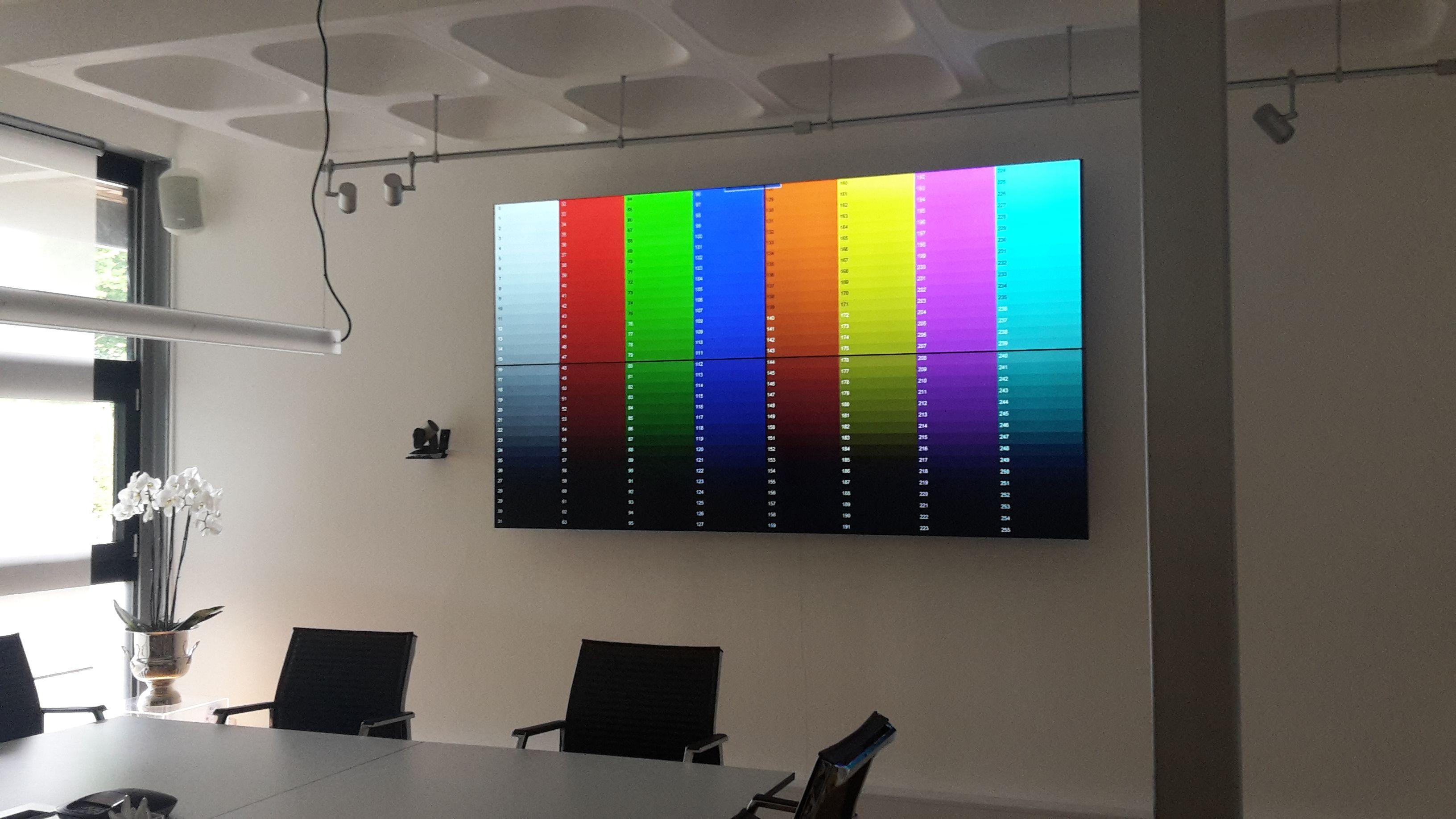 Videowall Kalibrierung Herrsching
