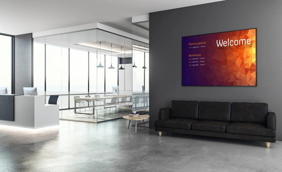 Konferenztechnik Banner digitales schwarzes Brett