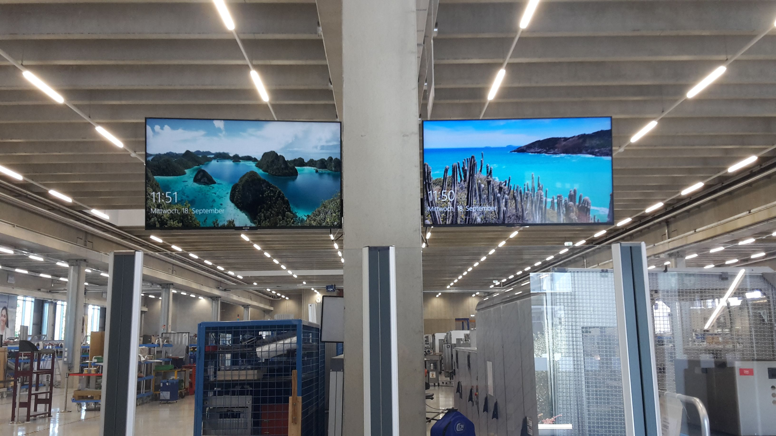 Digital Signage Display Produktion Ulm