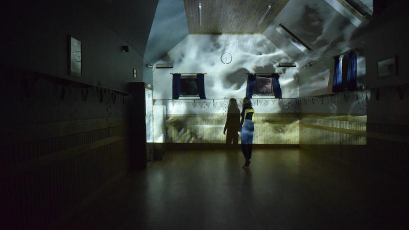 Projected Film in Bixter Hall