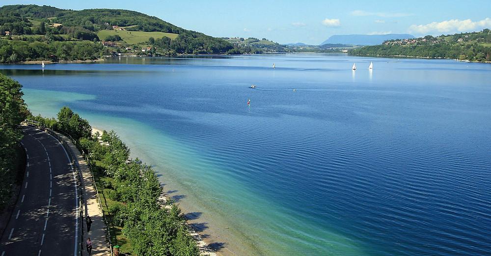 Lake Grenoble Summer Heat Paladru swimming cool off nature water