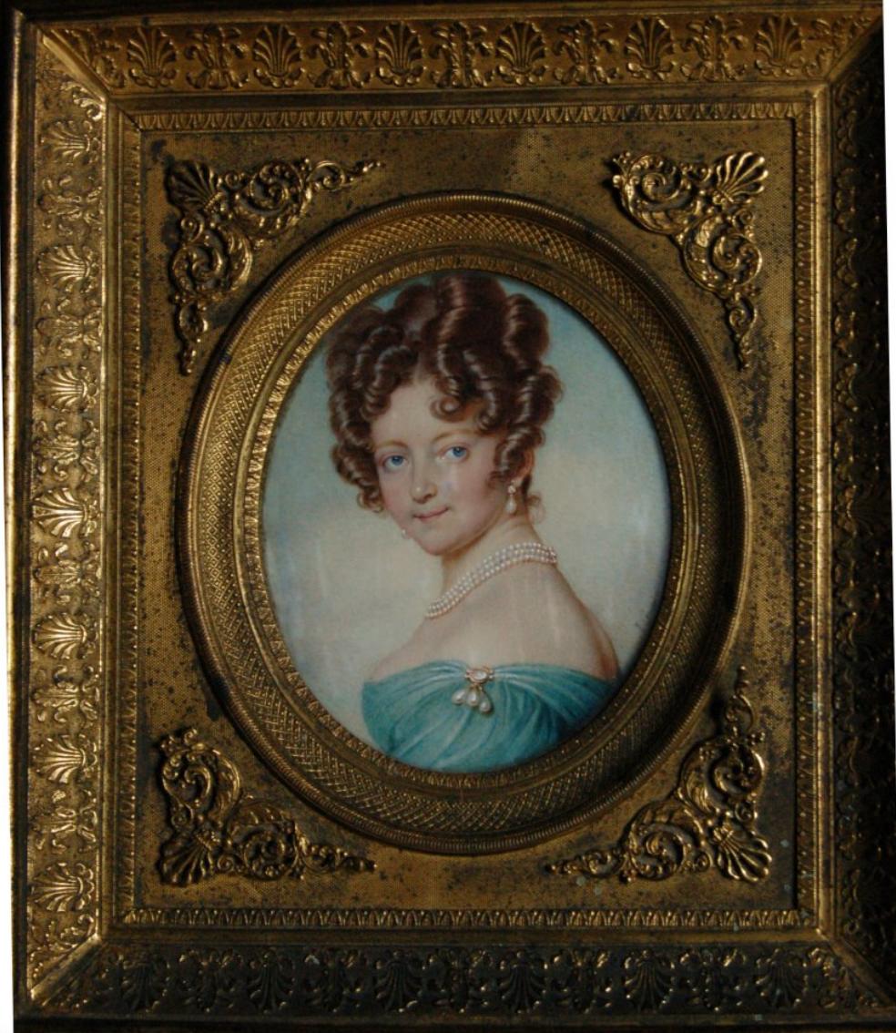 Miniatura de Jean-Urbain Guérin (1760-1836). Pertence à colecção da Fundação das Casas de Fronteira e Alorna.