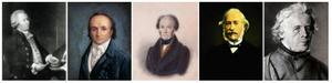John Arnold, Abraham-Louis Breguet, Louis Audemars, Adrien Philippe e Charles-Antoine LeCoultre.