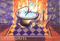 potter caldron painting