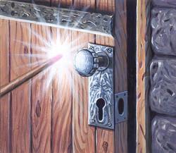 Potter door painting