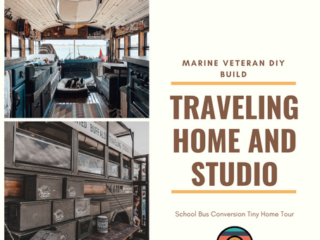 Marine Veteran & Her DIY School Bus Tiny House - Family Life On The Road