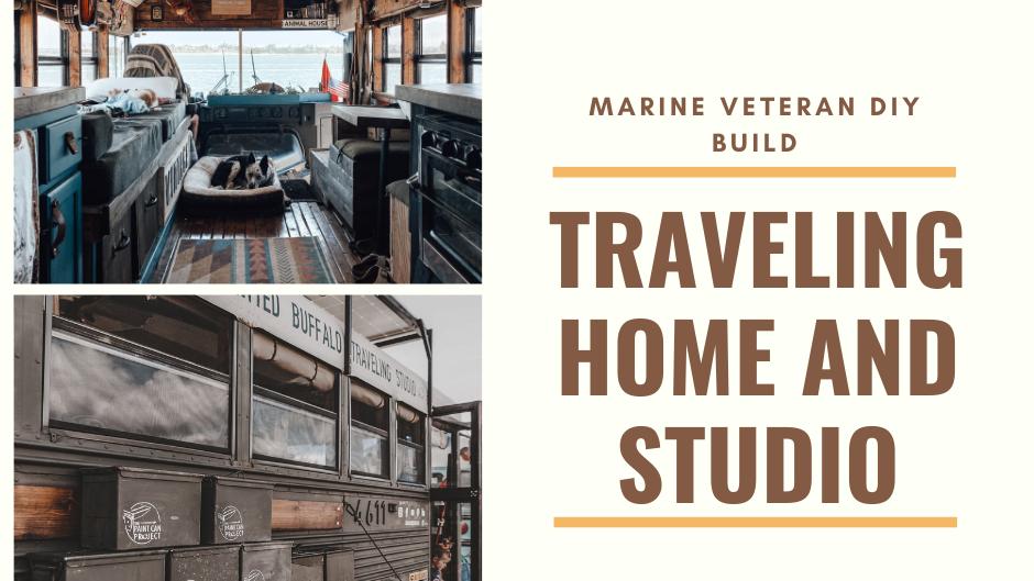 Marine Veteran & Her DIY School Bus Tiny House - Family Life On The Road