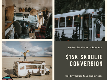 E-450 Diesel Mini School Bus Tiny House - $15K Total Investment