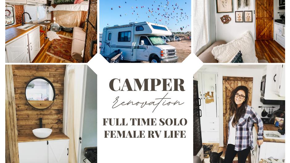 Carpenter Renovated Camper- Single Solo Female RV Life