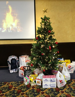 Donations under the tree for a breakfast program