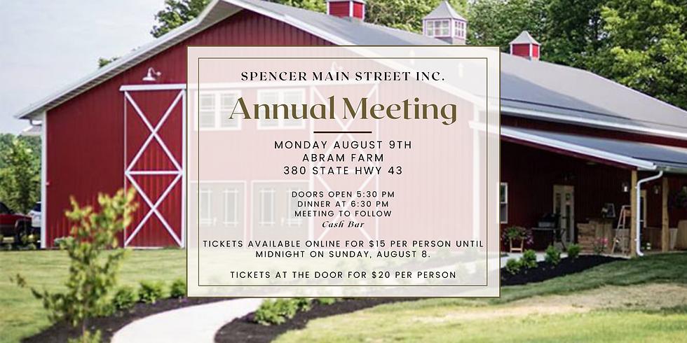 Spencer Main Street Annual Meeting