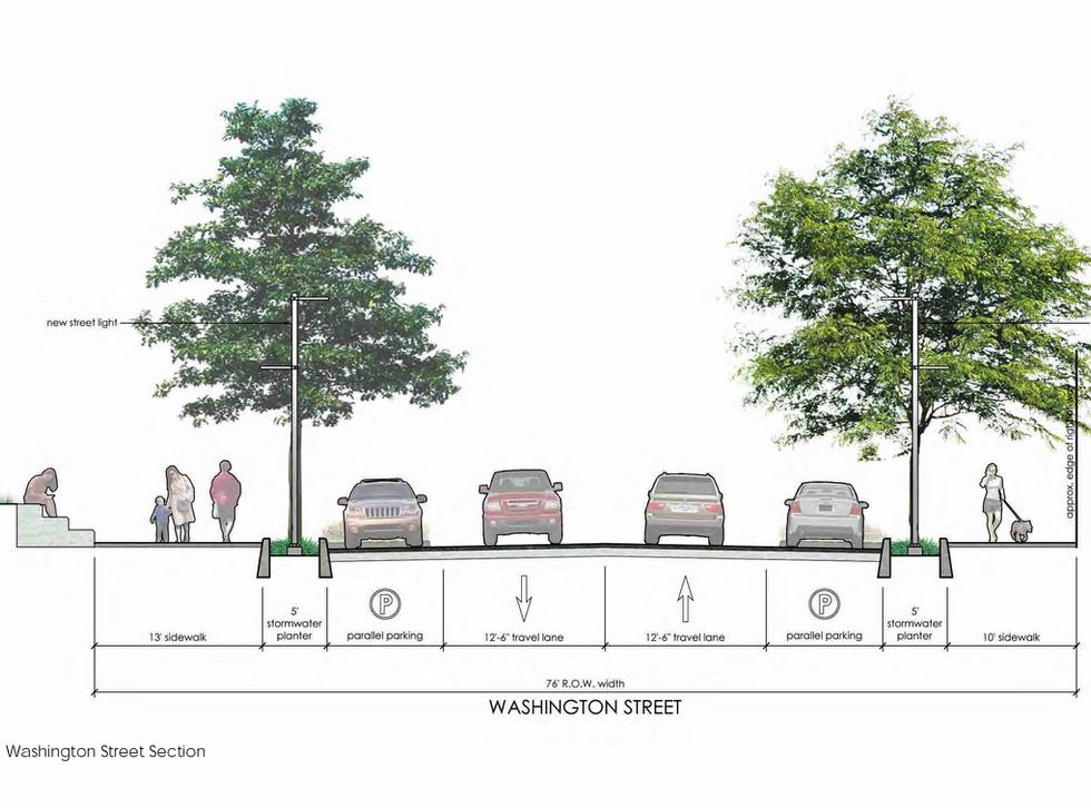 Proposed Washington St section