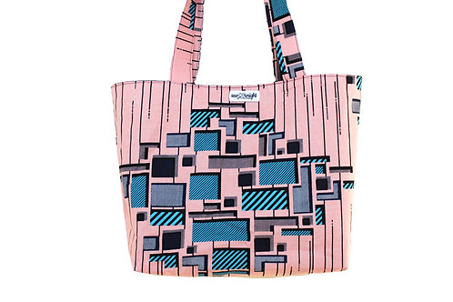 Reversible Tote Bag - Pink Ankara