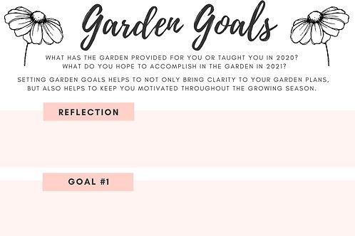Garden Goal Setting Sheet