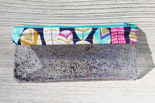 Feathers Glitter Pouch
