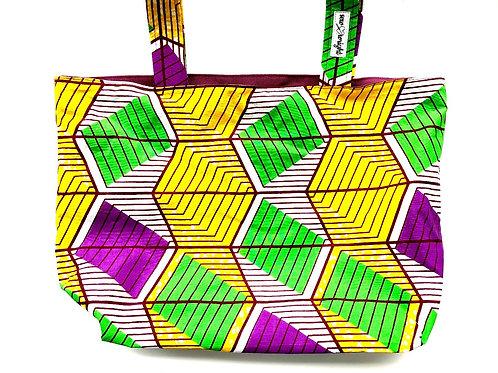 Reversible Tote Bag - Cranberry Denim