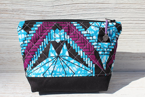 Quilted African Cosmetic Bag
