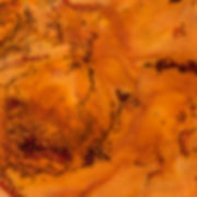 Orange / Flower Encaustic Artpiece, Wall Sculpture, Encaustic Art By Laura Anderson - Evoke Art Studio