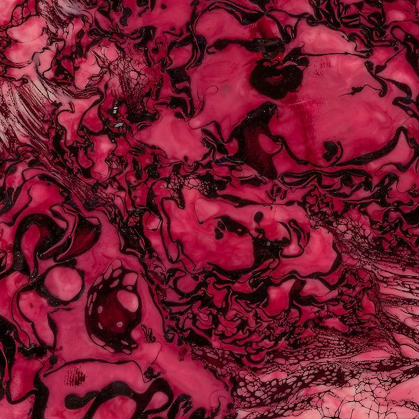 Red / Pink / Wine Encaustic Artpiece, Wall Sculpture, Encaustic Art By Laura Anderson - Evoke Art Studio