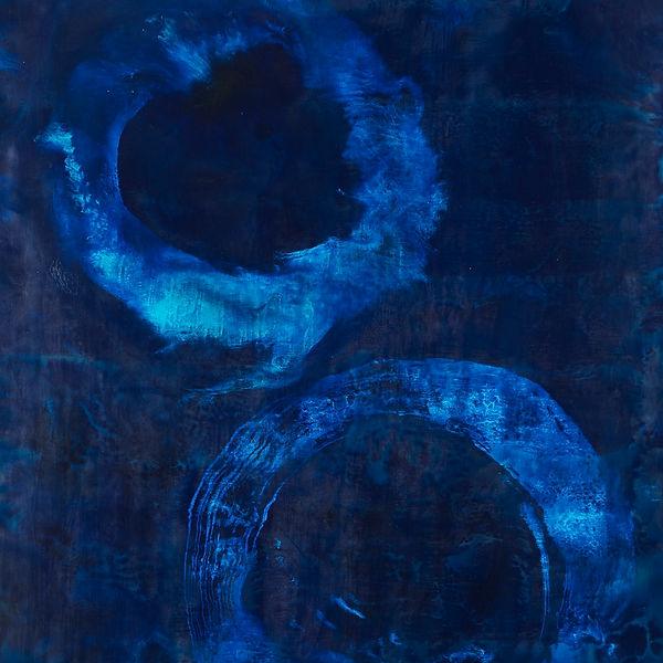 Blue / Ocean / Meditation Encaustic Artpiece, Wall Sculpture, Encaustic Art By Laura Anderson - Evoke Art Studio