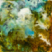Green / Blue / Ocean Encaustic Artpiece, Wall Sculpture, Encaustic Art By Laura Anderson - Evoke Art Studio