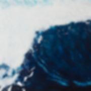Blue / Ocean / Waves Encaustic Artpiece, Wall Sculpture, Encaustic Art By Laura Anderson - Evoke Art Studio