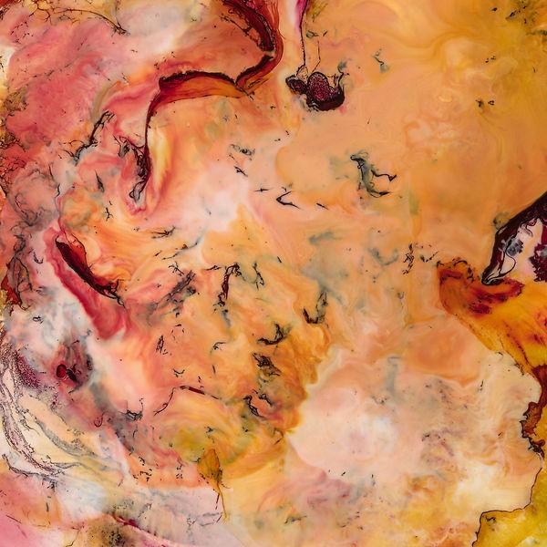Orange / Pink Abstract Encaustic Artpiece, Wall Sculpture, Encaustic Art By Laura Anderson - Evoke Art Studio