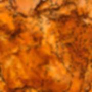Orange / Desert / Flower Encaustic Artpiece, Wall Sculpture, Encaustic Art By Laura Anderson - Evoke Art Studio