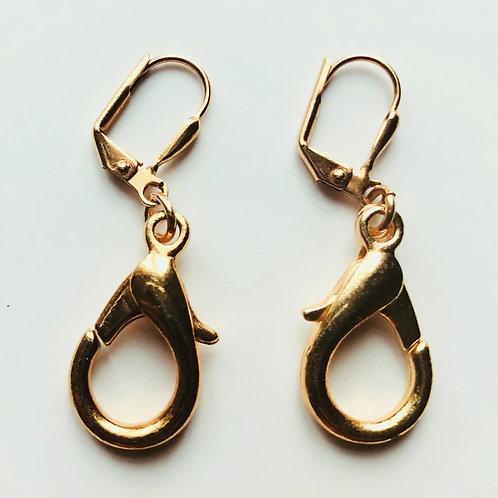Gold lobster earrings