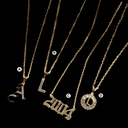 Custom Initial/year necklaces (pre-order)