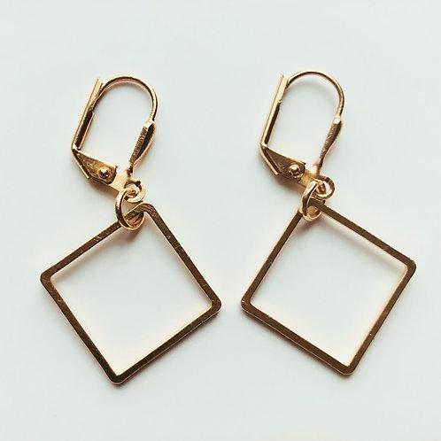 Dainty Gold Diamond earrings