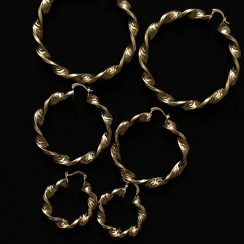 The 'chikita' Hoops (stainless steel)
