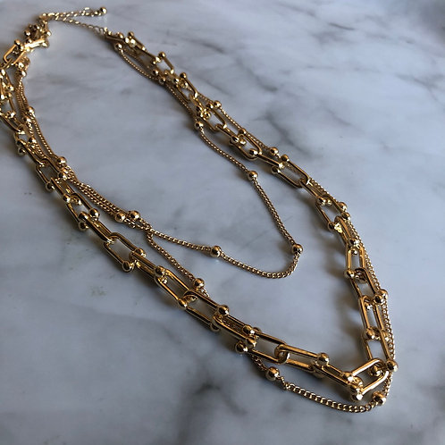 Layered gold chain set (pre-order)
