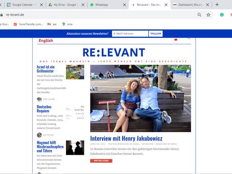 Interview mit Henry Jakubowicz / RE:LEVANT.DE