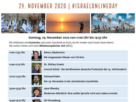 #IsraelOnlineDay 29.11.2020