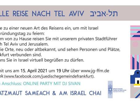 Virtual Yom Haatzmaut Juedische Gemeinde Frankfurt