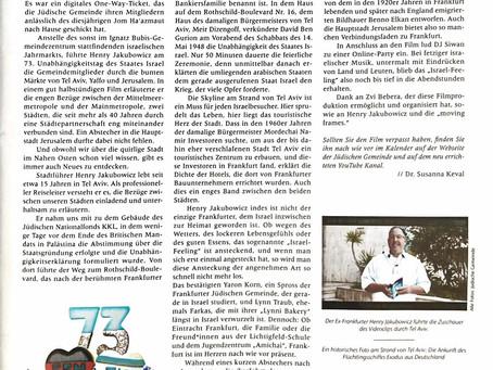 Juedische Gemeindezeitung Frankfurt - Mai 2021