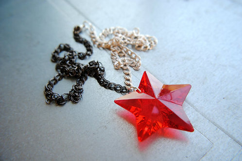 Marvel Inspired Winter Soldier Star Necklace