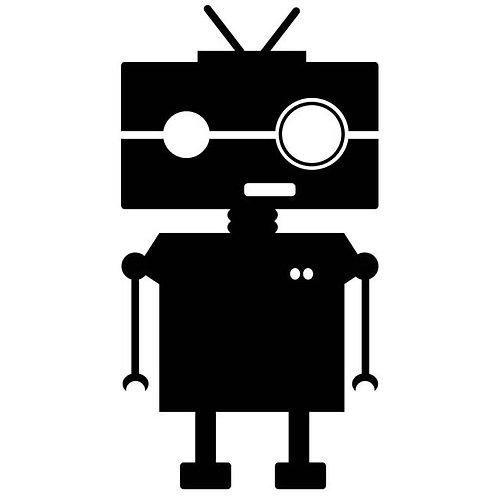 """NerdBot 3.5"""" x 6"""" vinyl decal"""