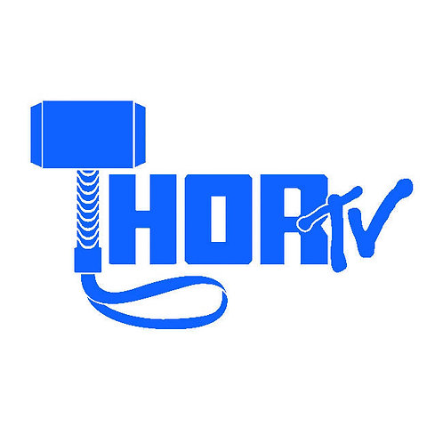"ThorTV 6"" x 3.5"" vinyl decal"