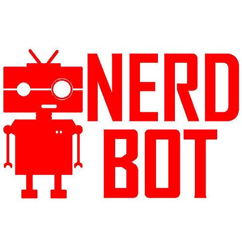 "NerdBot Logo 5.5"" x 3.5"" vinyl decal"