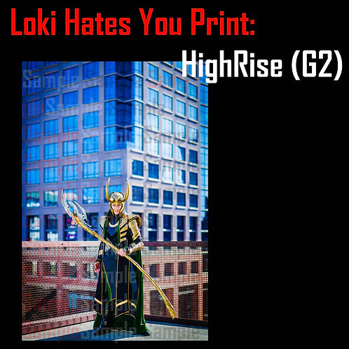 "Loki Hates You, Framed for Greatness Print 2: ""HighRise"""