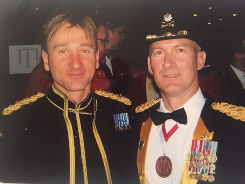 Ian and Me at Australian Command and Sta