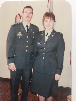 Kelly and Me at my Commissioning Decembe