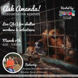 """Dog-Harmony Hosts """"Ask Amanda: Resources for Rescues"""""""