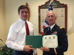 Awarding 4 Year Army ROTC Scholarship.jp